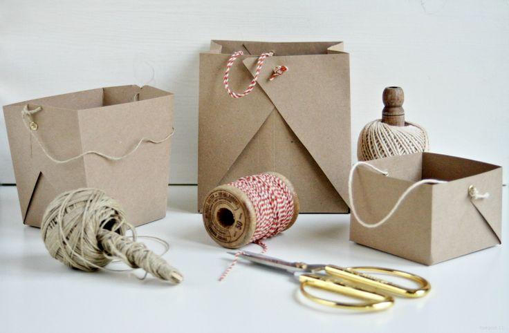 Haz tus propias cestas de cartón para regalos, decoración o fiestas