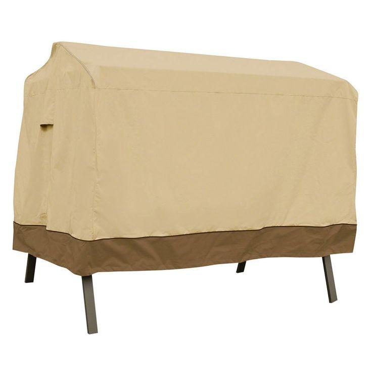 Veranda 3-Seat Canopy Swing Cover, Beig/Green (Beig/Khaki)