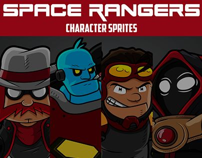 """Check out new work on my @Behance portfolio: """"Space Rangers Character Sprites"""" http://be.net/gallery/44568069/Space-Rangers-Character-Sprites"""