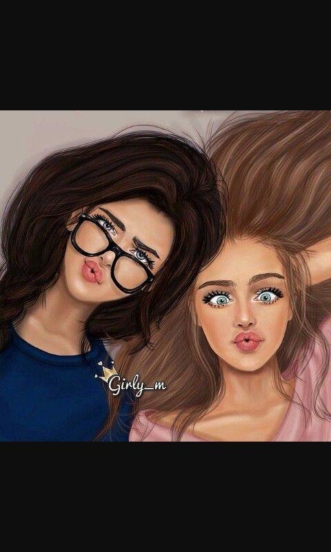 poses friends bff animation iphone wallpapers drawings boyfriends motion graphics true friends resultado de imagen para girly m