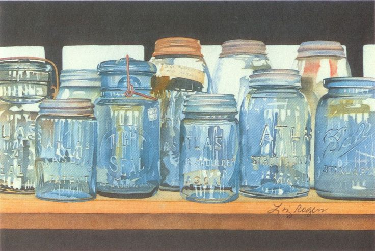 Canning Jars  - Ball Canning Jar Print - Canning Jar Print by LizRogersWatercolors on Etsy https://www.etsy.com/listing/128069064/canning-jars-ball-canning-jar-print