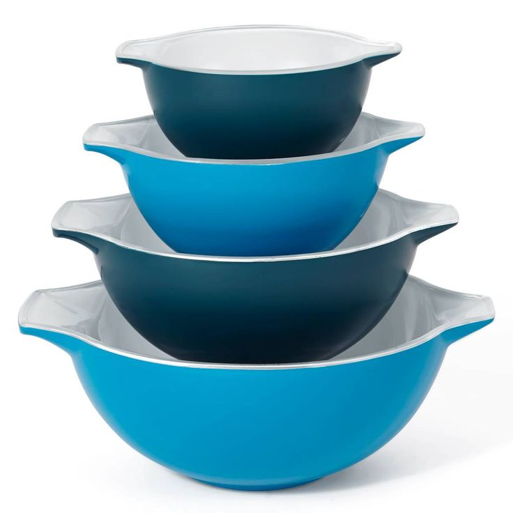 Creo 4-Piece Mixing Bowl Set in Blue