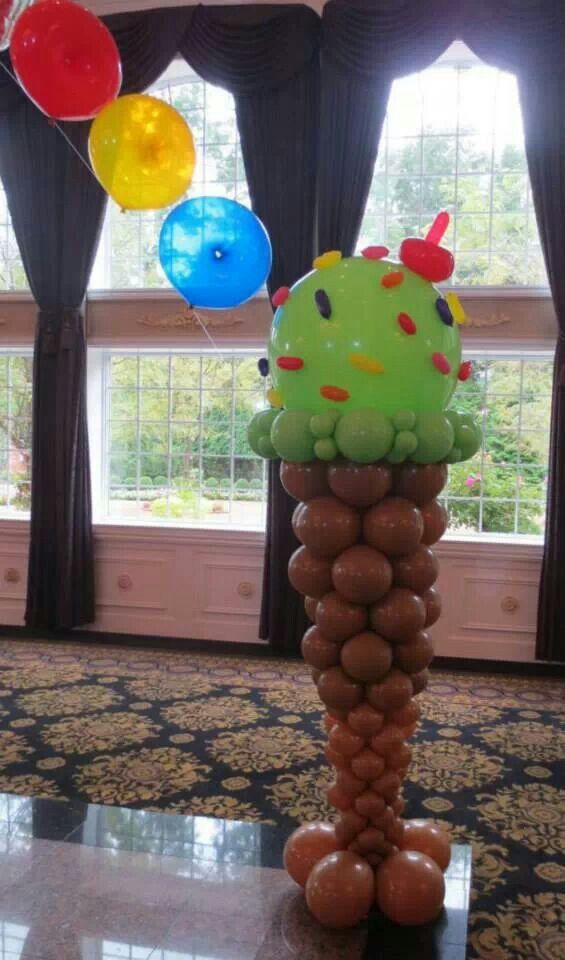 116 best balloon decor ideas images on pinterest balloon for Balloon column decoration