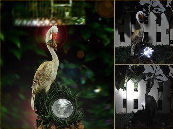 Solar Garden Heron