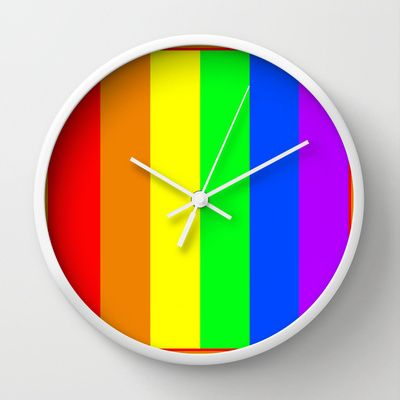 Rainbow Wall Clock by Bruce Stanfield - $30.00