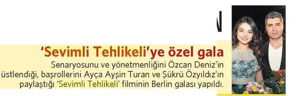 SEVİMLİ TEHLİKELİ' YE ÖZEL GALA / Milliyet Cadde (14.02.2015)