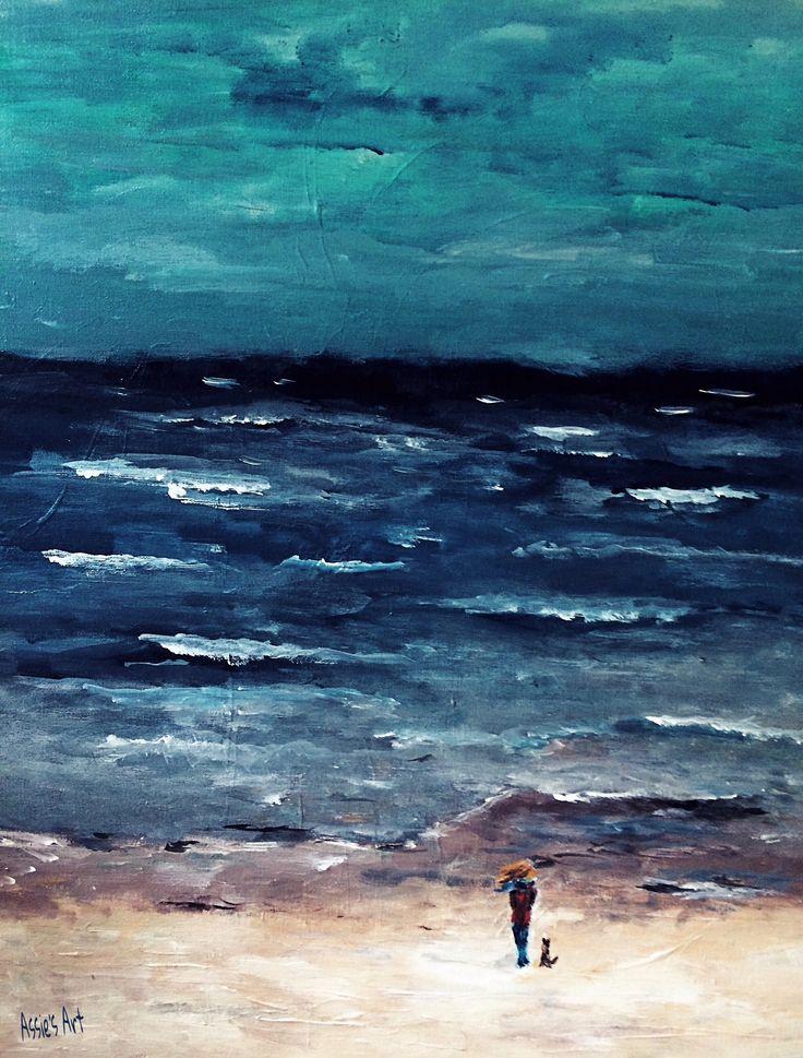 "My Art  "" De Kust "" Acryl painting on canvas  60x50cm  ➡️ www.assiesart.nl"