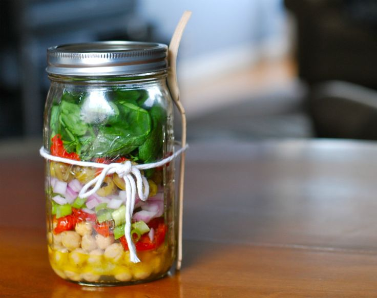Mason Jar Salads Perfect for Work Lunches: Chickpea Salad