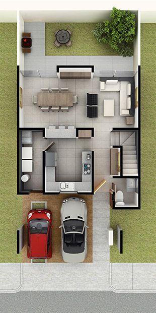 25 melhores ideias de casas geminadas no pinterest projetos de casas geminadas geminada e - Modelos de casas de planta baja ...