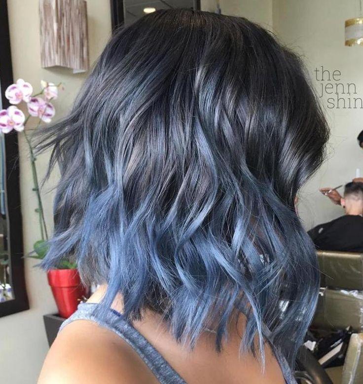Pastel Blue Ombre Bob