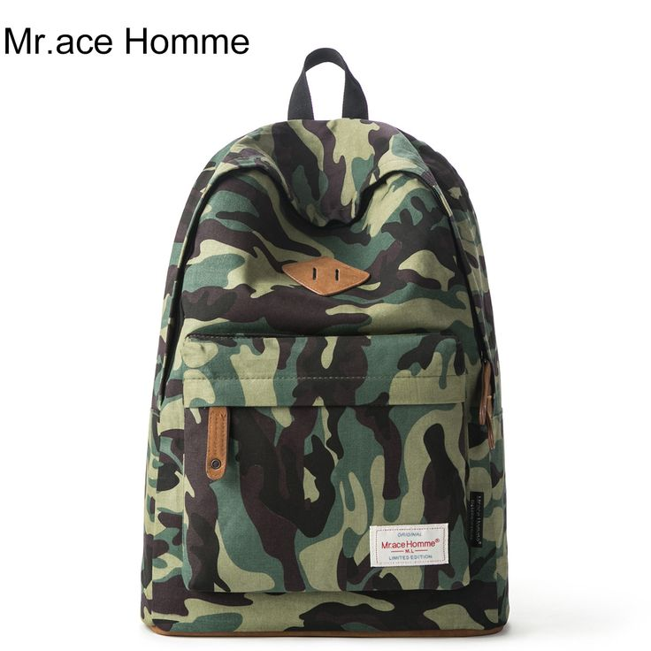 $21.55 (Buy here: https://alitems.com/g/1e8d114494ebda23ff8b16525dc3e8/?i=5&ulp=https%3A%2F%2Fwww.aliexpress.com%2Fitem%2Fcamouflage-printed-backpack-female-canvas-schoolbag-male-Korean-middle-school-students-leisure-travel-bag-Backpack%2F32724249060.html ) Fashion Brand Camouflage Printed Backpack Unisex Canvas Schoolbag Casual Middle School Students Travel Rucksack for just $21.55
