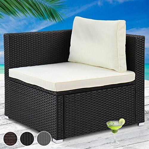 miadomodo polyrattan lounge corner sofa cm outdoor garden patio wicker furniture