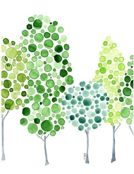 Watercolour Forest All Together Now Print by jellybeans on Etsy, $15.00
