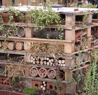 Tuinhuisje voor insecten