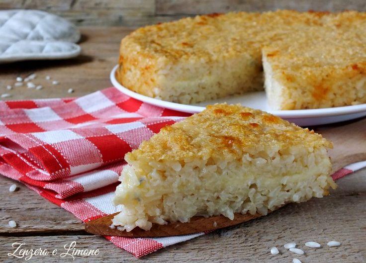 Timballo+di+riso+ai+quattro+formaggi