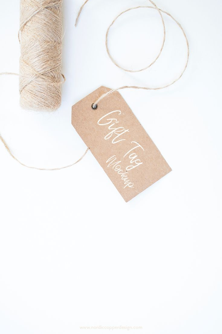 Gift tag mockup on craft paper with brown cord xmas gift wrapping gift tag mockup on craft paper with brown cord xmas gift wrapping inspiration graphics pinterest mockup and product photography jeuxipadfo Choice Image