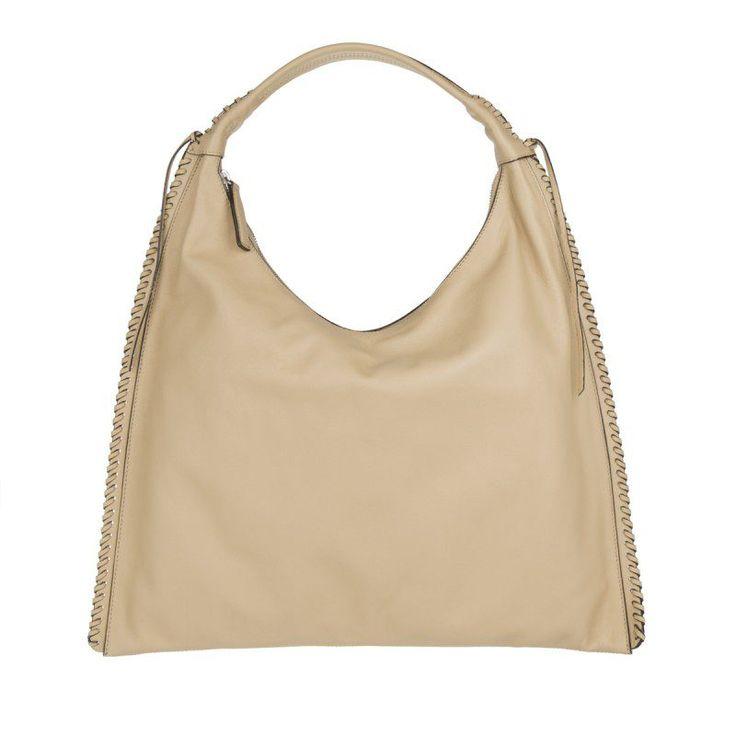 Abro Abro Tasche – Velvet Leather Hobo Bag Natural – in beige – Umhängetasche für Damen