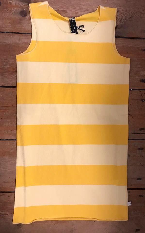 Little 10 Days dress block stripe happy yellow