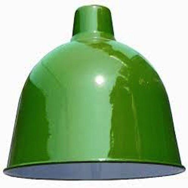 BELL SHAPED INDUSTRIAL LIGHT SHADE, GREEN  Enamel Light Shade Only Suitable  For Pendant Light