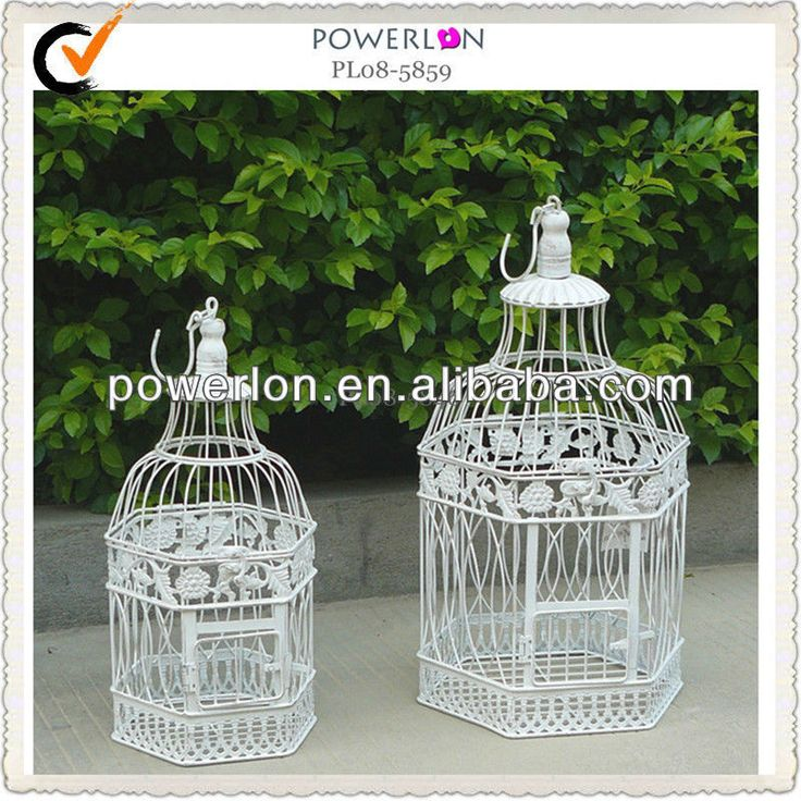 Shabby Chic Metal Decoration Wedding Bird Cages