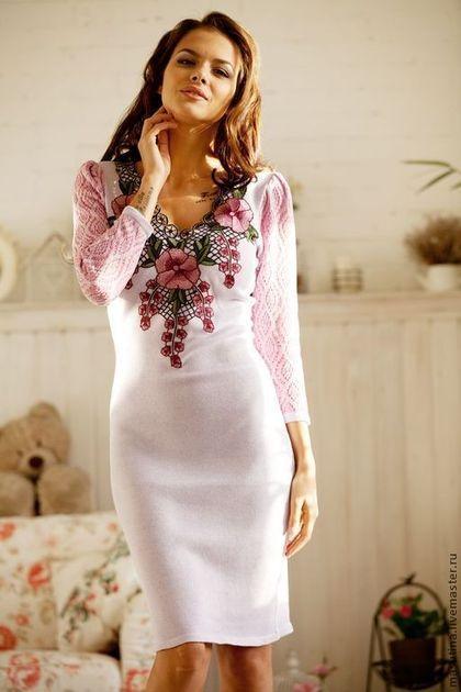 Вязание машинка платье