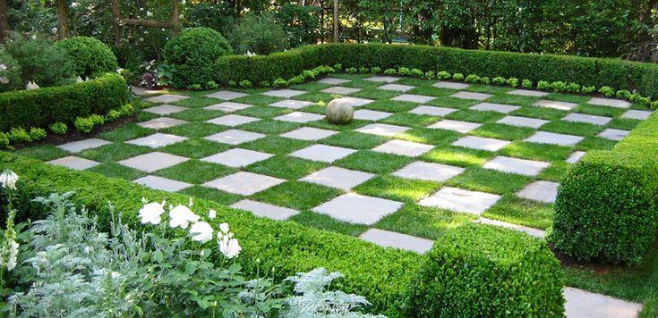 Planters garden and jeremy smearman vinings atlanta for Checkerboard garden designs
