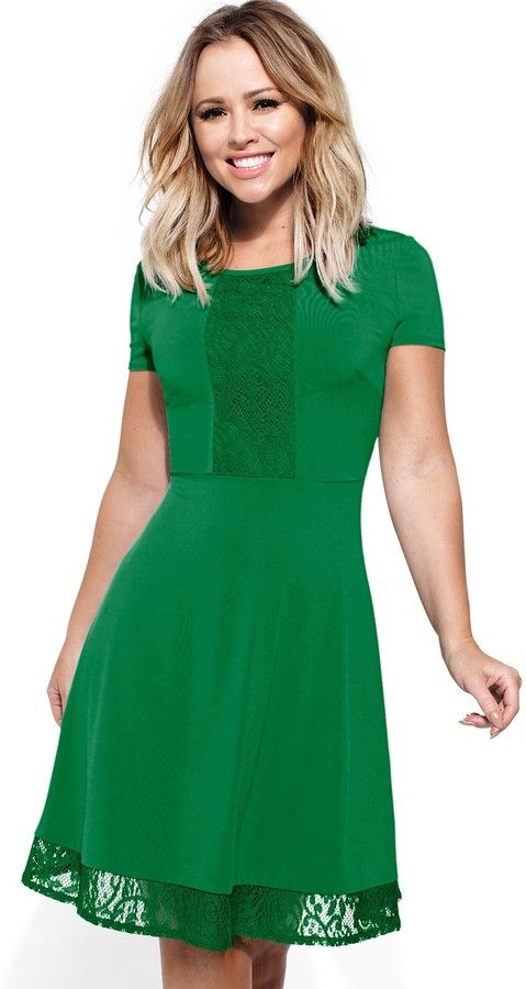 Walsh Kimberley Lacy Hem Ity Dress