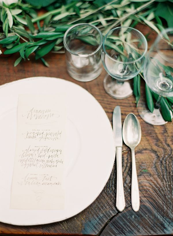 Italy Inspired Rustic Wedding via once wed: You could use sage to cover table....:::sage and lavender