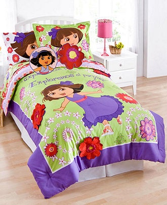 Dora Picnic 3 Piece Full Sheet Set - Bed in a Bag - Bed ...