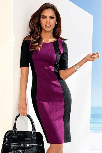 Women's Dresses - Capture Colour Block Dress - EziBuy Australia