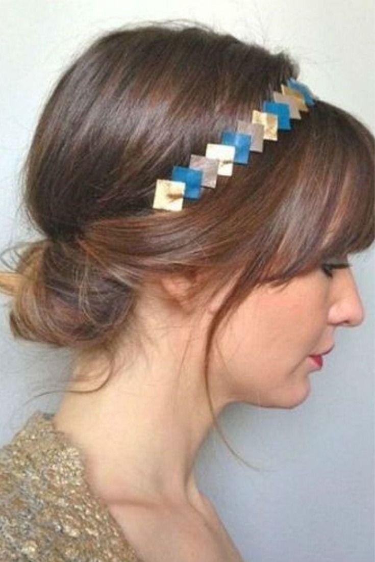 Le Chignon Bas Avec Un Headband Coiffure Avec Headband Bijoux Cheveux Accessoire Coiffure