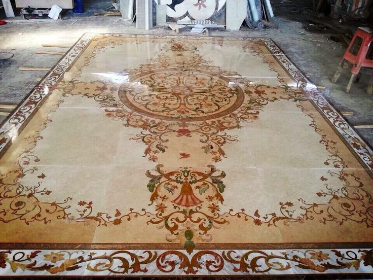 Carpet Stone Water Jet Floor Medallion 15mm Thickness And