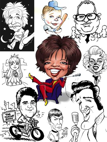 How to draw caricatures, step by step, people, with our ...