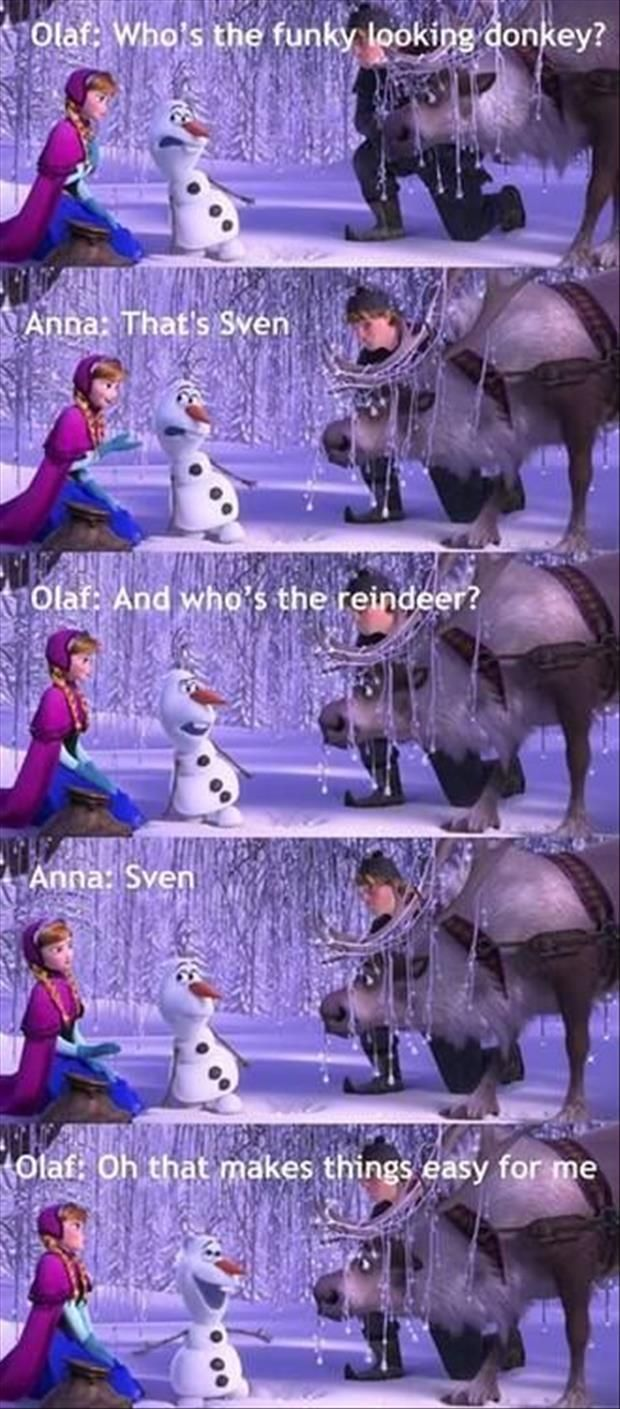 olaf from the frozen movie