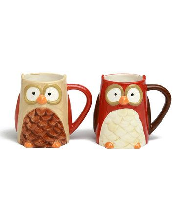 Take a look at this tag Owl Mug Set - Set of Four by An Owl a Day Collection on #zulily today!