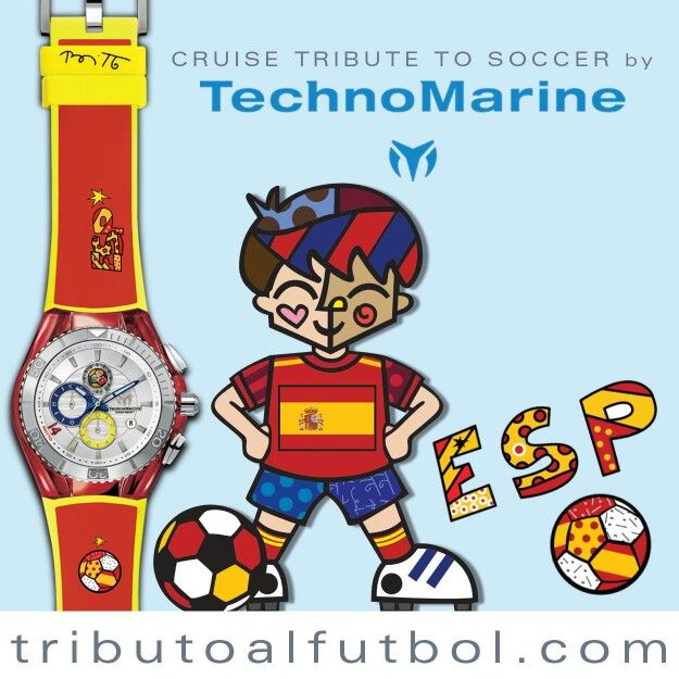 Sigamos con #España!!! CRUISE TRIBUTO AL FUTBOL España... ¿A quien les vas tu? VISITA www.tributoalfutbol.com y participa en la Quiniela.... Este reloj podría ser tuyo!!! Vive minuto a minuto el mundial con tu #TechnoMarine la fiebre del mundial... tu  #TechnoMarineLA Edición Limitada alusiva al #mundial #brasil2014 #futbol #2014... #World #Cup #Spain #CruiseTribute #Soccer #watch #Britto #RomeroBritto #TributoAlFutbol  #Mundial2014 #MundialdeFutbol #worldcup  #brazilworldcup2014…