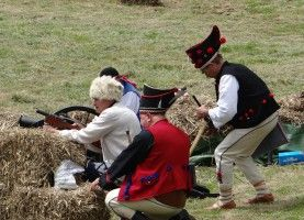 Bitwa na Szańcach - re-enactment of the battle on the scones. The Polish Army and highlanders defended themselves from the onslaught of the Swedes in 1656.