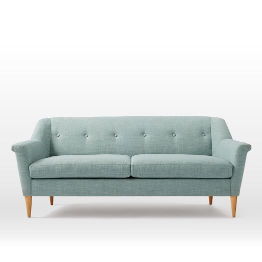 Finn Sofa | West Elm -- really too big for the porch, but I'm pinning it here because I like the color and look.