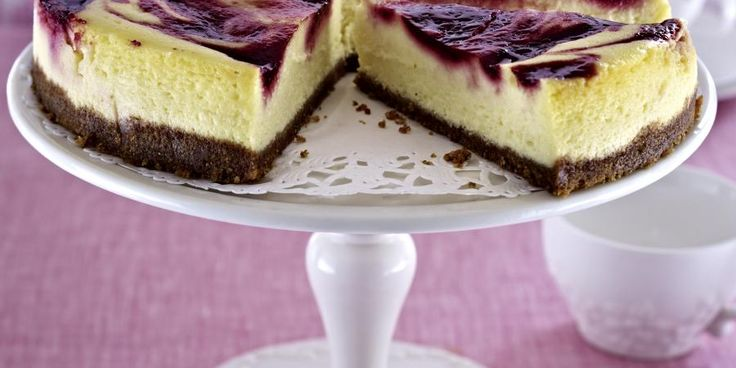 Recipe for Raspberry Swirl Cheesecake