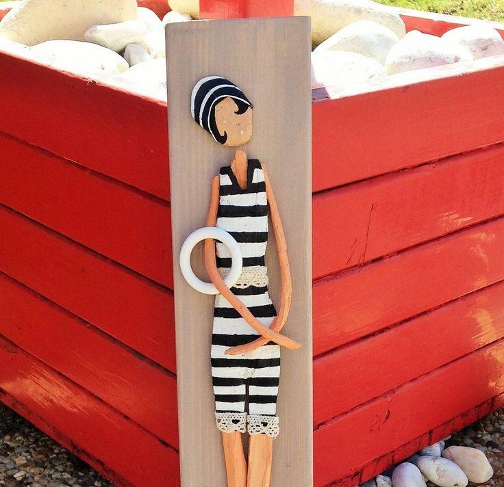 Mademoiselle Daphné du bois flotté à la mer : Autres art par les-toiles-de-mer-de-syl
