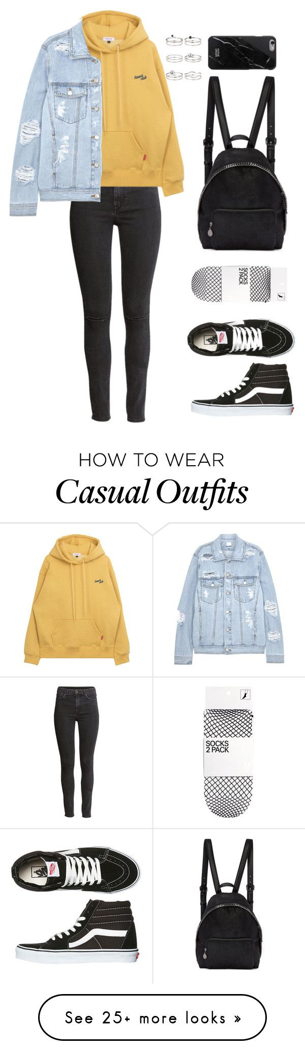 """""""Untitled #141"""" by manerefortis on Polyvore featuring H&M, SJYP, Vans, STELLA McCARTNEY, Native Union and Miss Selfridge"""