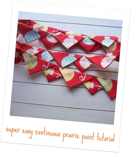 super easy continuous prairie point tutorial by sewtakeahike, via Flickr