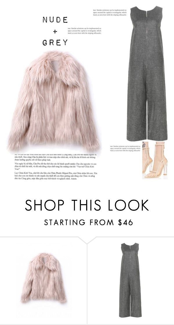 """""""Nude+Grey (to give it flare, add a hoodie) Grey"""" by beautymanifesting ❤ liked on Polyvore featuring Isa Arfen and Cape Robbin"""