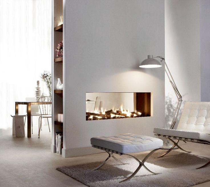 contemporary double-sided fireplace (gas closed hearth) Lucius 140 T Element4 B.V.