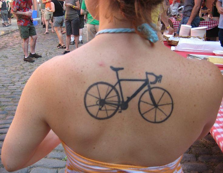 Racing bike tattoo
