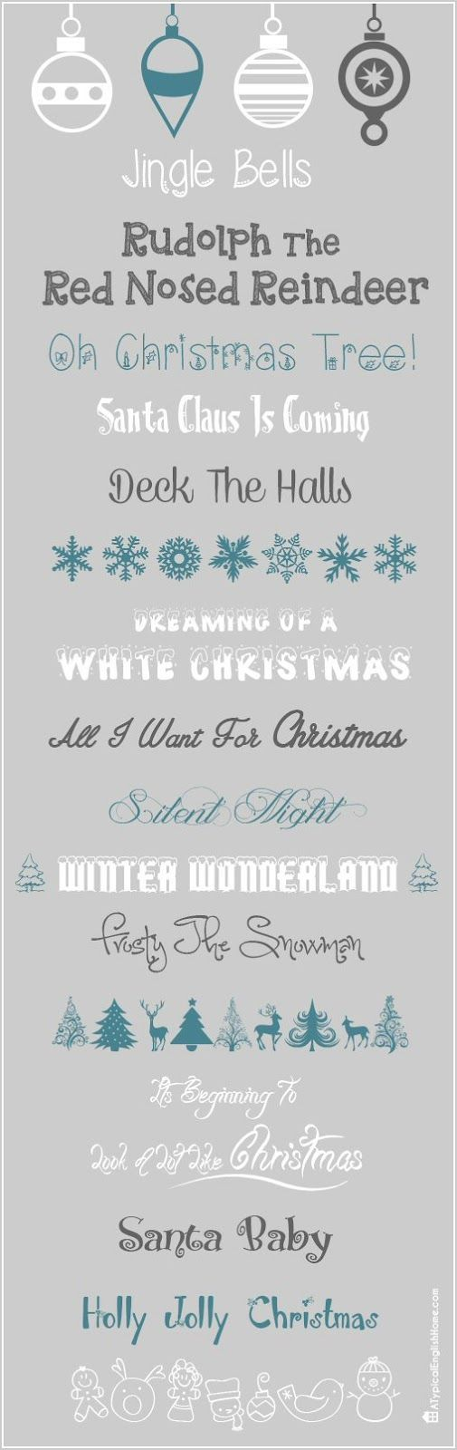 Free Christmas Fonts 2013 - A Typical English Home