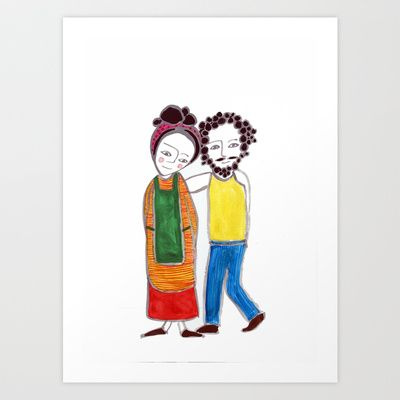 Parents Art Print by Hayley Egan - $16.00