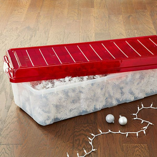 44 gal. Christmas Tree Storage Box with Wheels | The Container Store