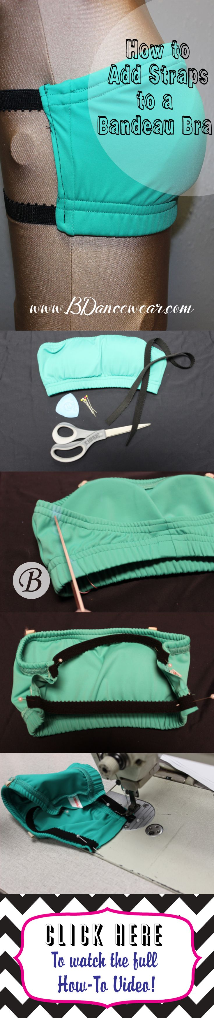 How to Add Straps to a Bandeau Bra