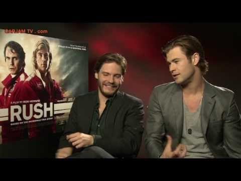 Chris Hemsworth Sexy Funny Interview Daniel Bruhl RUSH Movie 2013 Niki Lauda Carjam TV HD - YouTube